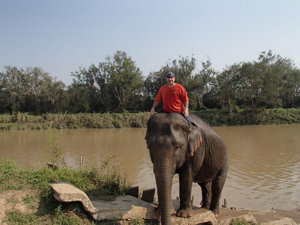 Michael at Anantara elephant camp