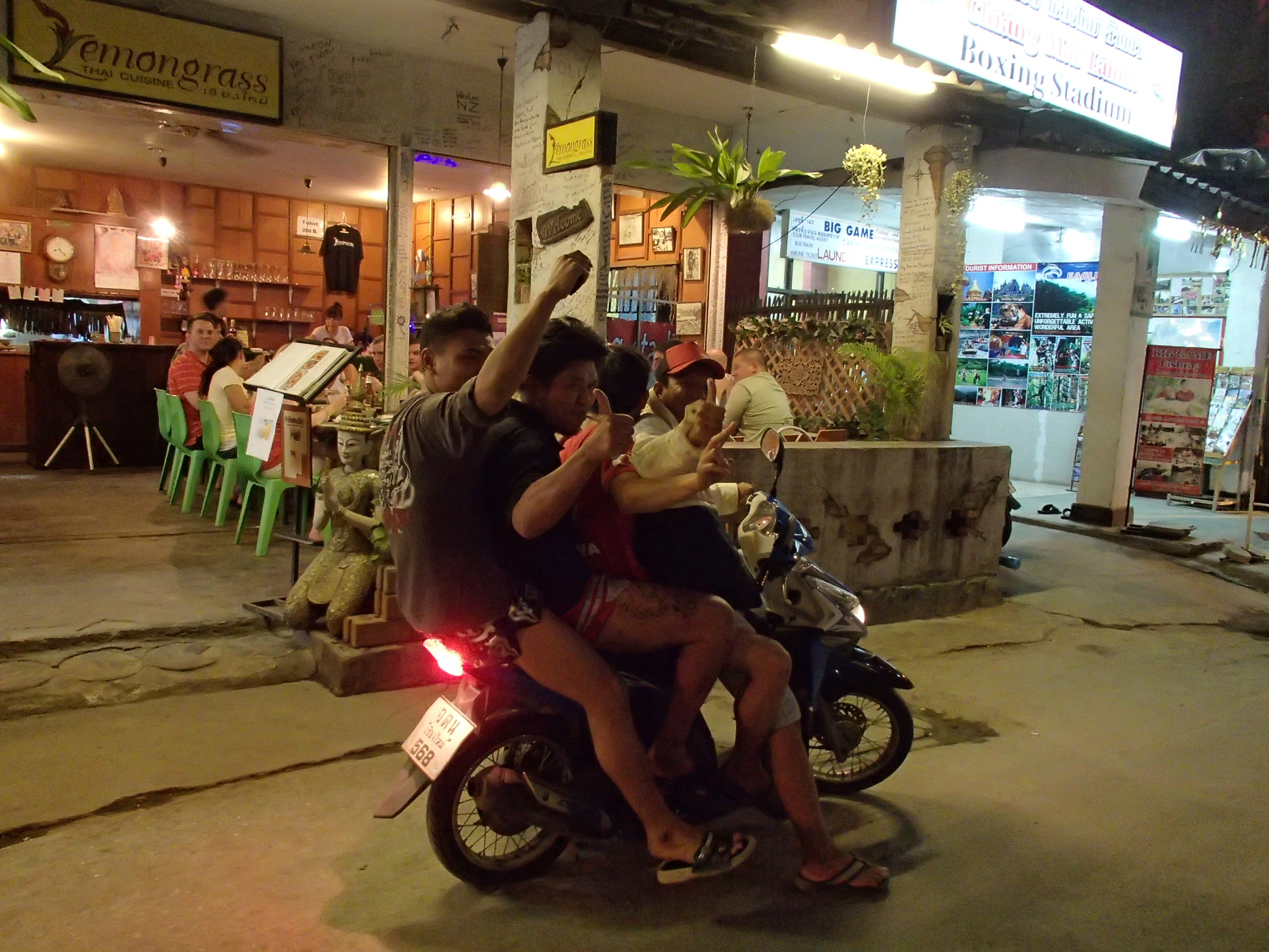outside Lemongrass Thai restaurant