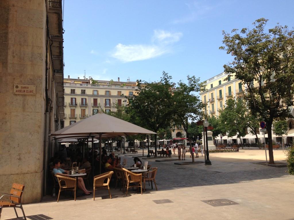 Plaça de la Independència Girona Spain