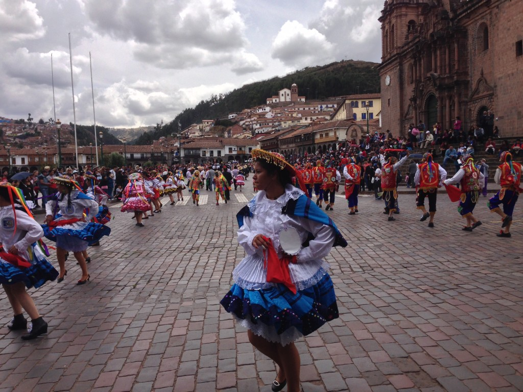 parade in Cusco