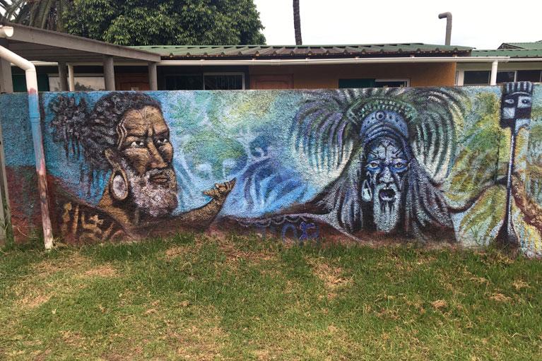 Street art in Hanga Roa