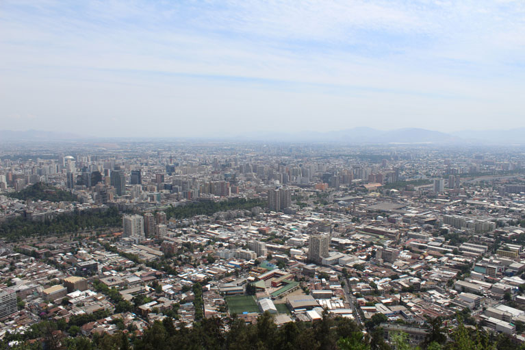 View of Santiago Chile