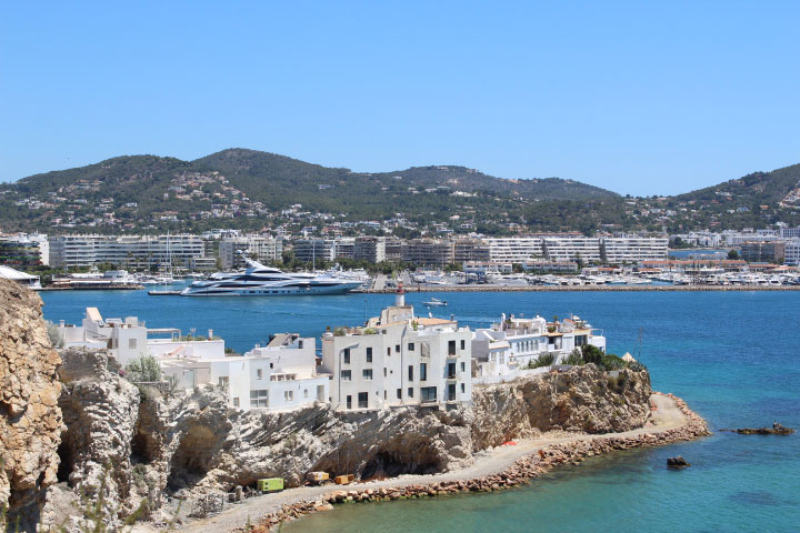 Eivissa harbor and old town