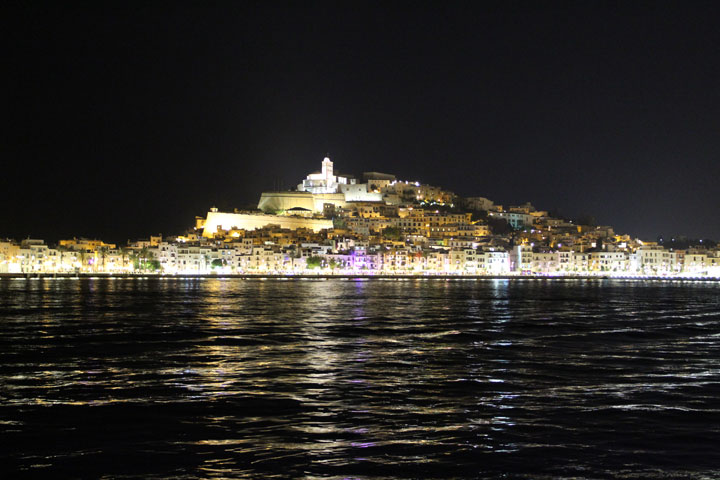 Eivissa view at night