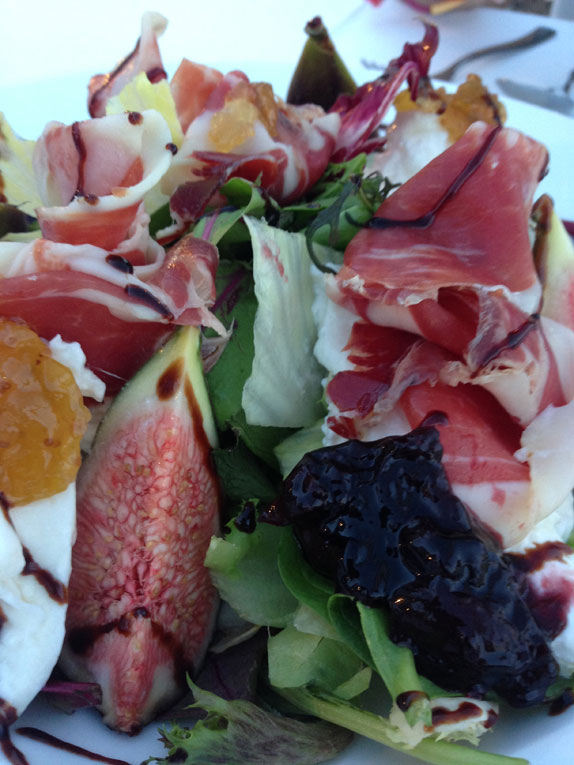 fig salad at Pago Pago Ibiza