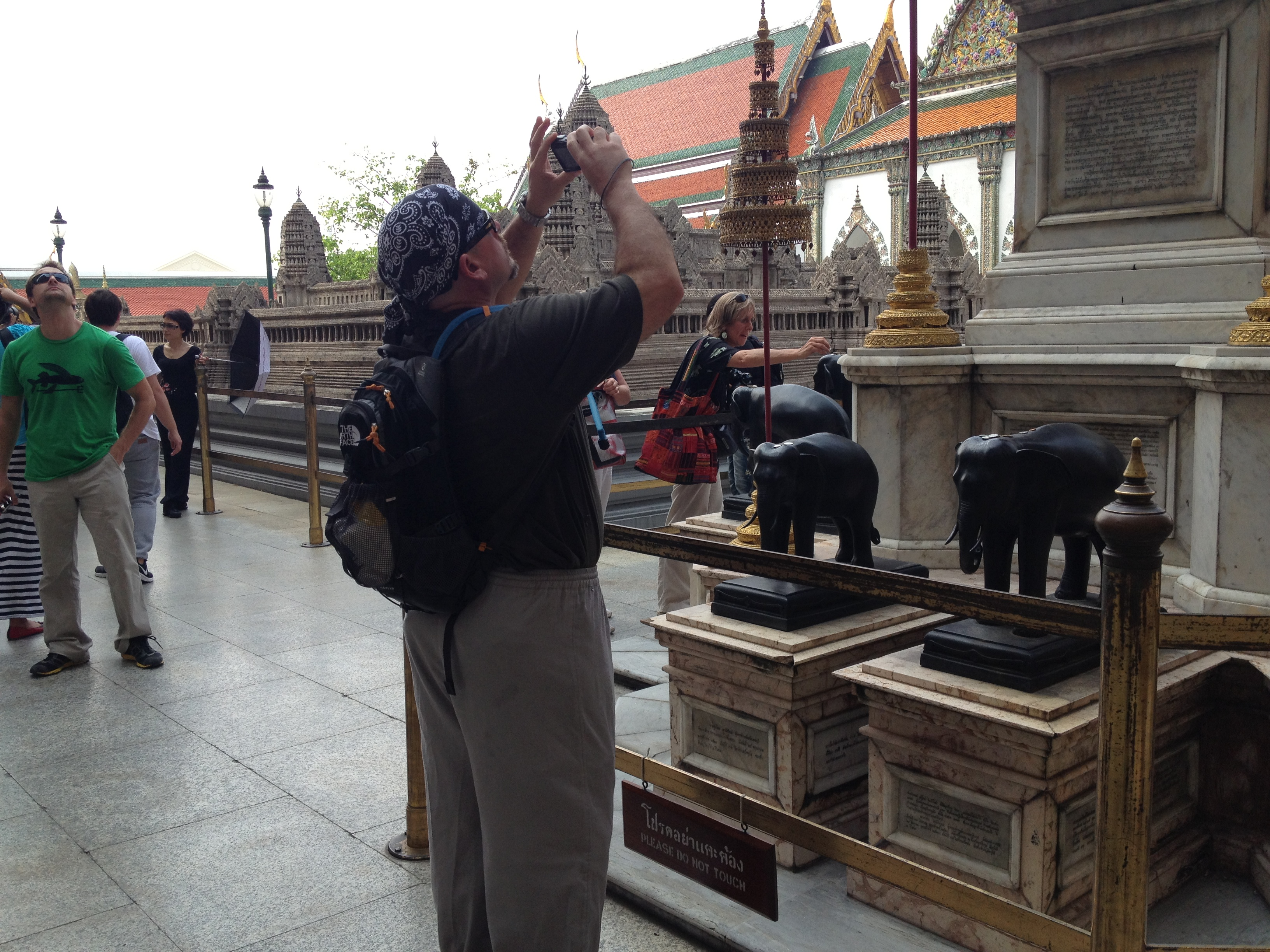 Grand Palace dress code - Michael's grandpa pants