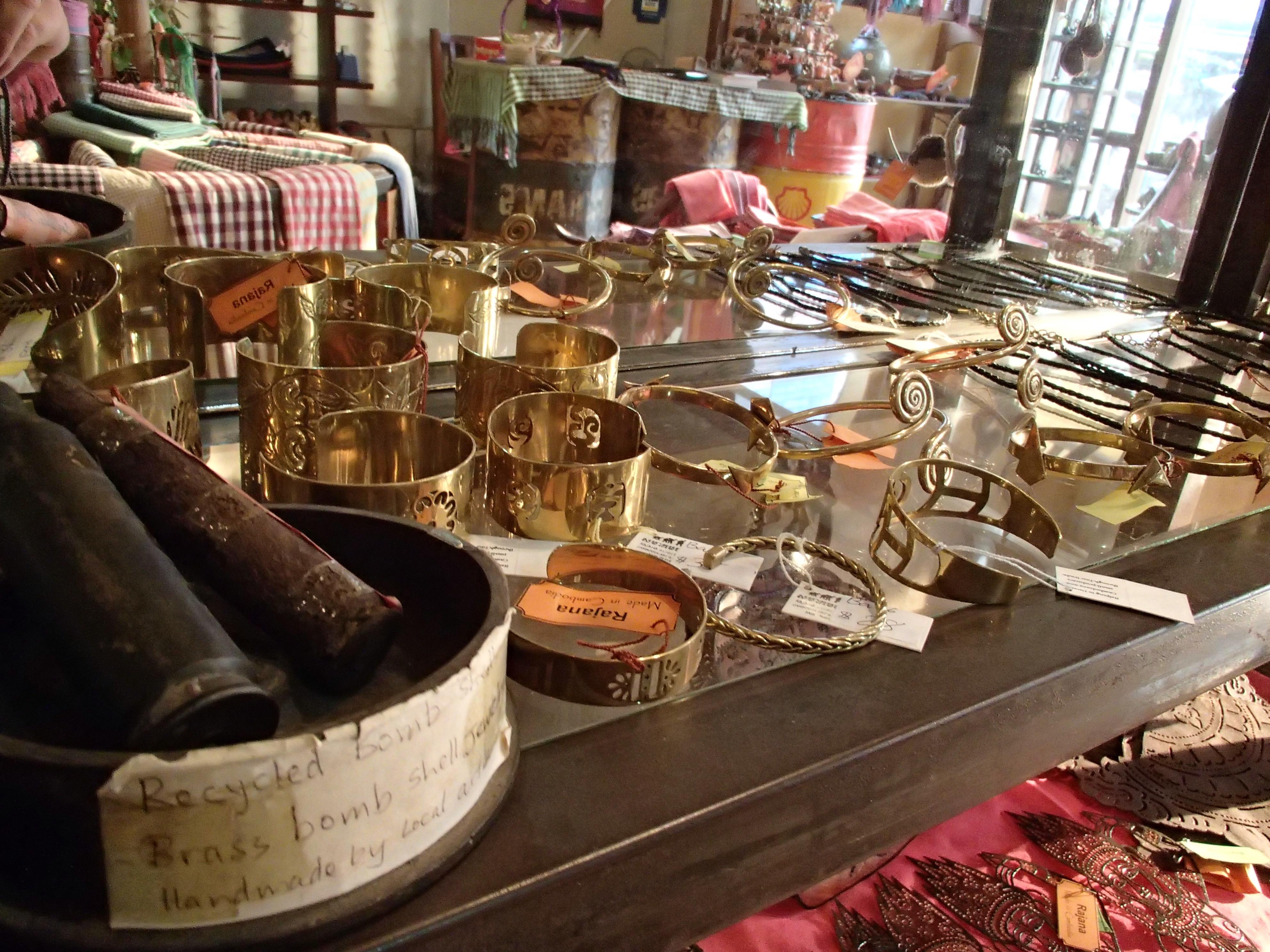 Jewelry made from bombs at Rajana