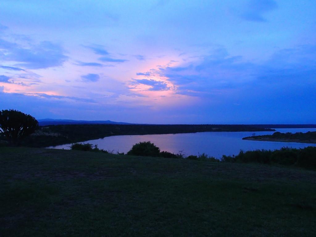 view from Mweya Safari Lodge