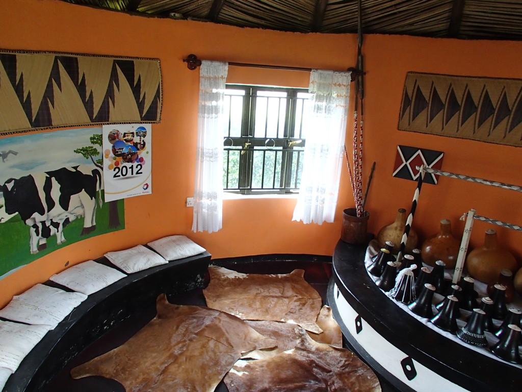 Milk hut at Kajugira home