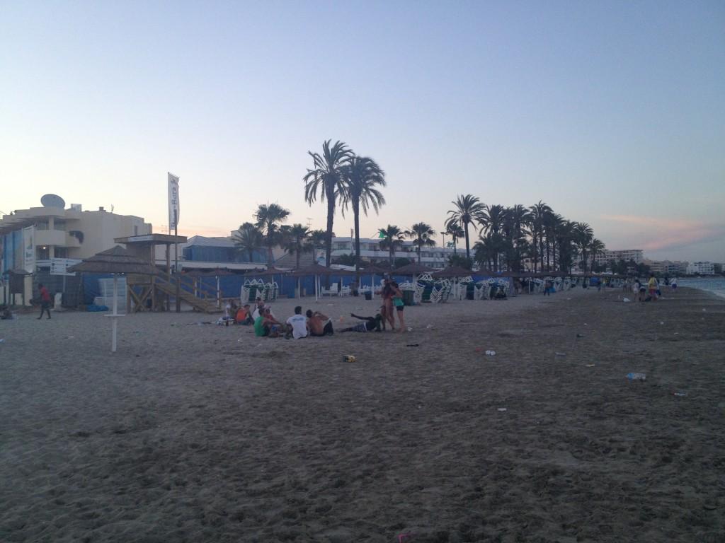 naked pirate man at Bora Bora Ibiza