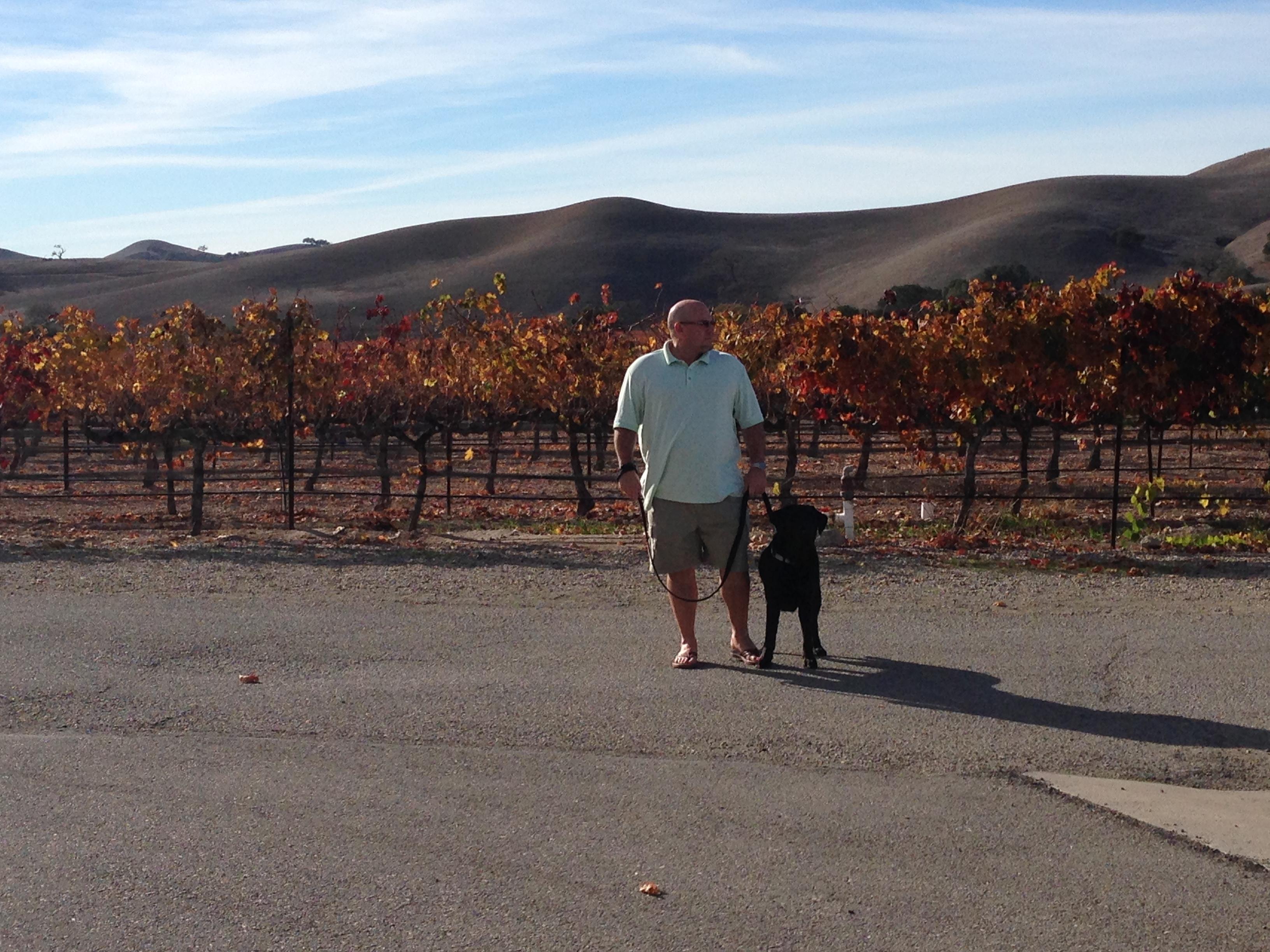 Michael and Indy at Zaca Mesa